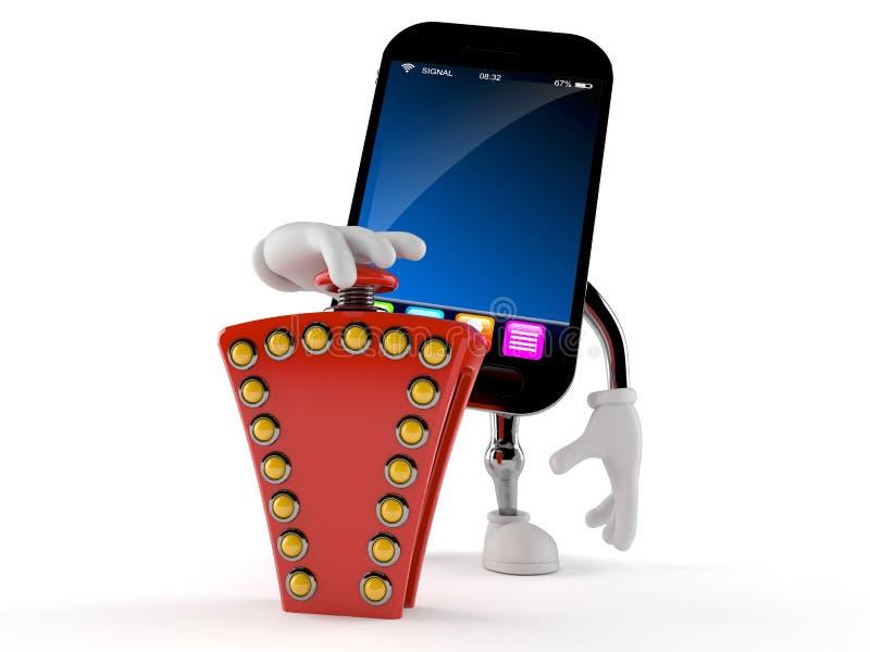 Knapp för frågesport för smart telefontecken driftig stock illustrationer