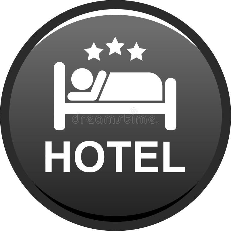 Knapp för hotellsymbolsrengöringsduk royaltyfri illustrationer