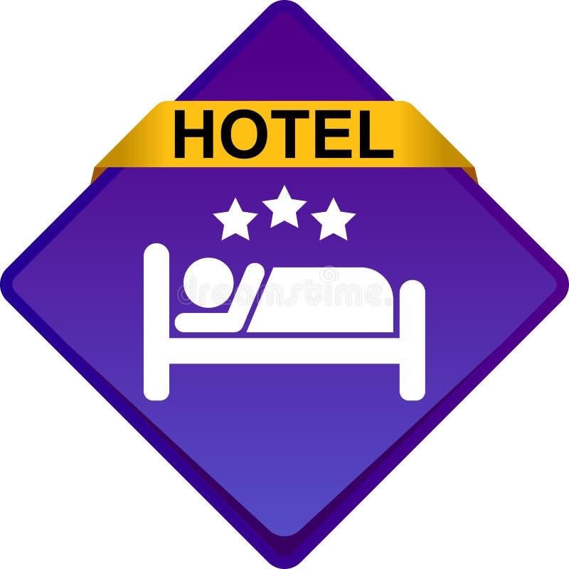 Knapp för hotellsymbolsrengöringsduk vektor illustrationer