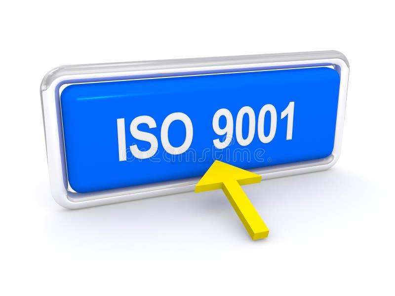 Knapp för ISO 9001 royaltyfri illustrationer