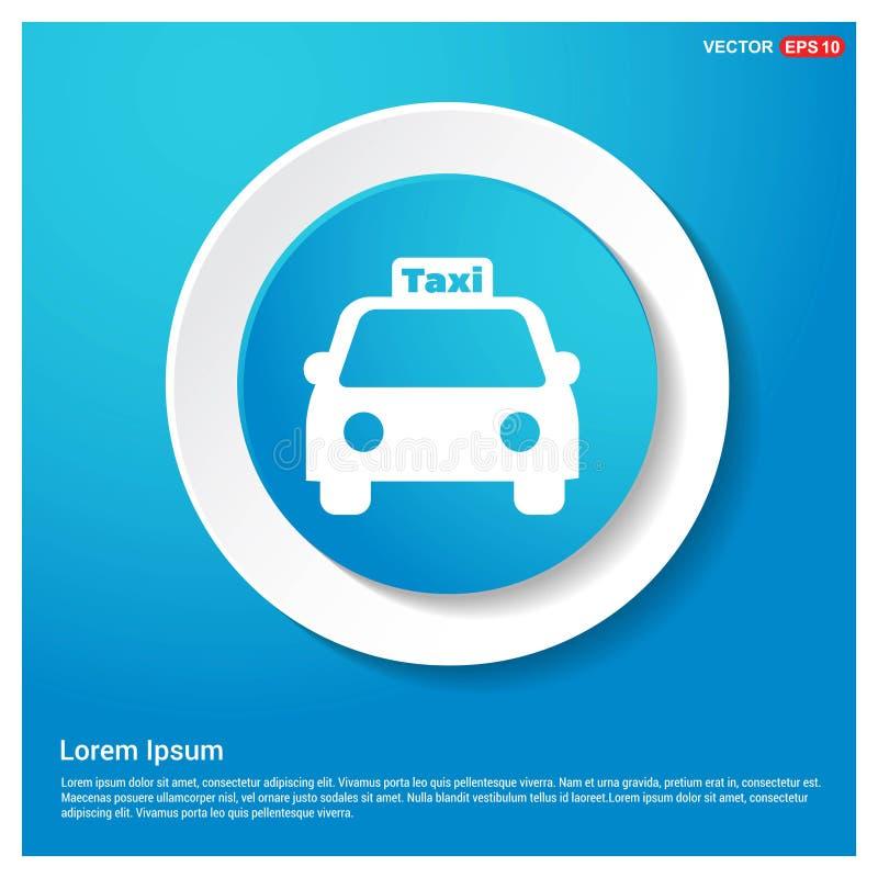 Knapp för klistermärke för rengöringsduk för blått för taxisymbolsabstrakt begrepp vektor illustrationer