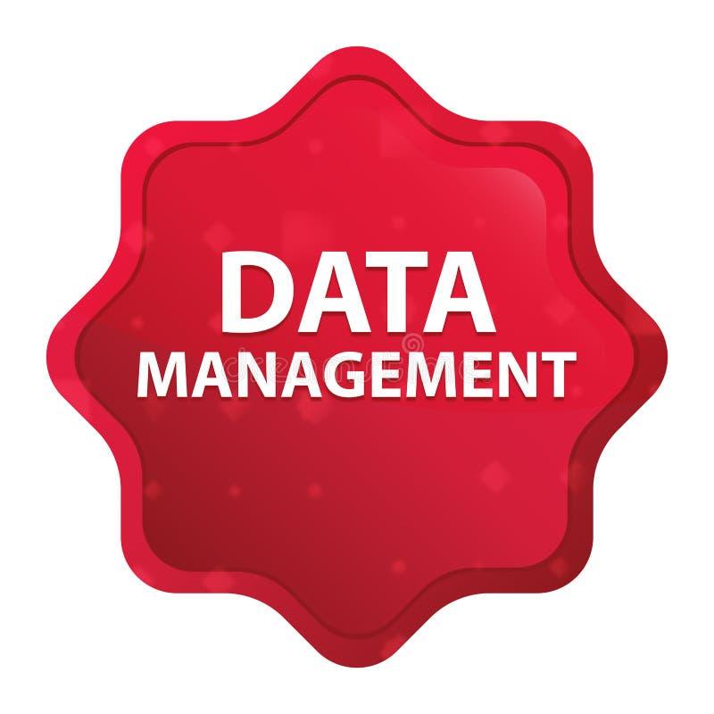 Knapp för klistermärke för starburst för dataledning dimmig rosa röd stock illustrationer