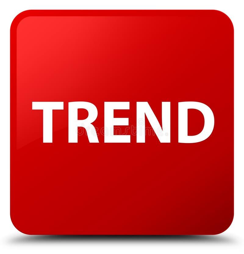 Knapp för röd fyrkant för trend vektor illustrationer