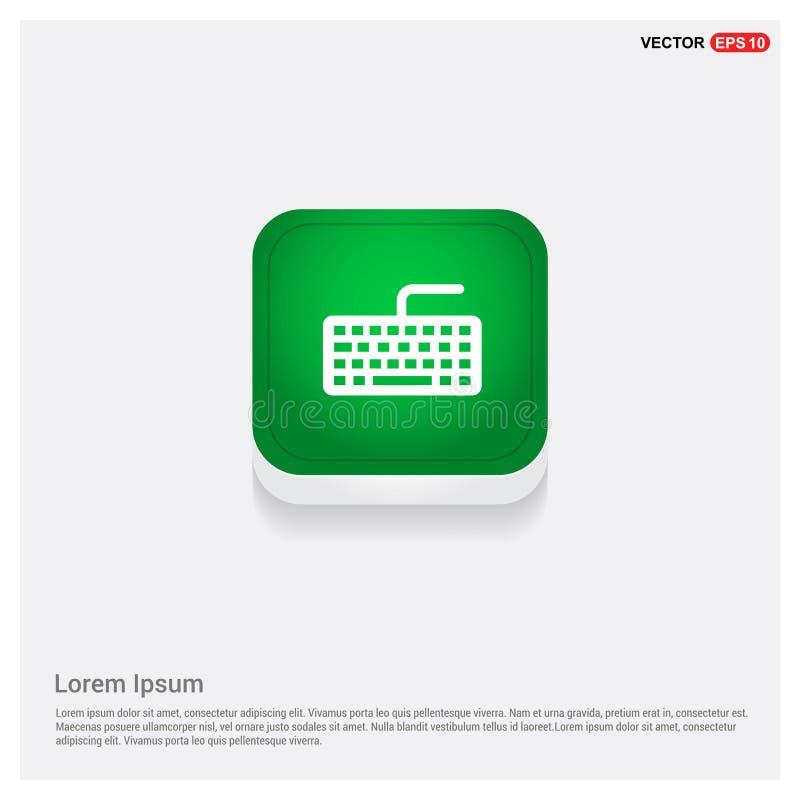 Knapp för rengöringsduk för tangentbordsymbolsgräsplan stock illustrationer