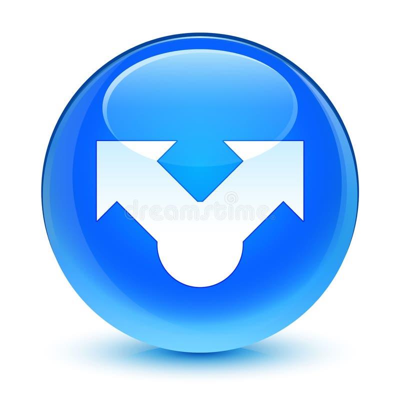 Knapp för runda för blått för aktiesymbol glas- cyan vektor illustrationer
