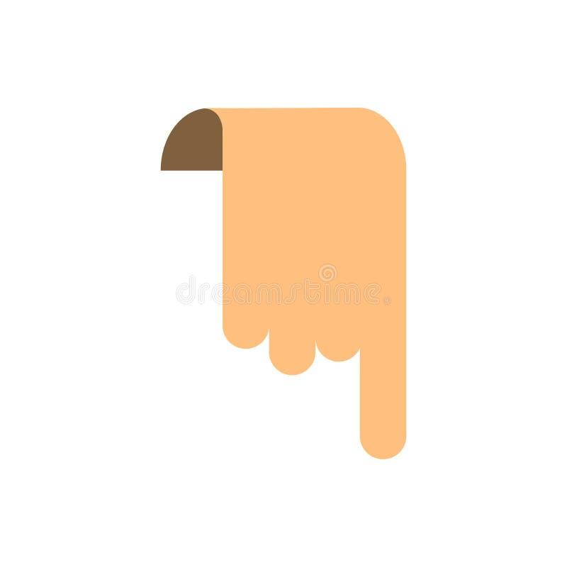 Knapp för symbol för bokmärkefingerdesign stock illustrationer