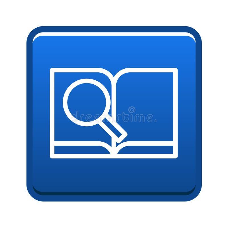 Knapp för symbol för forskningbok vektor illustrationer