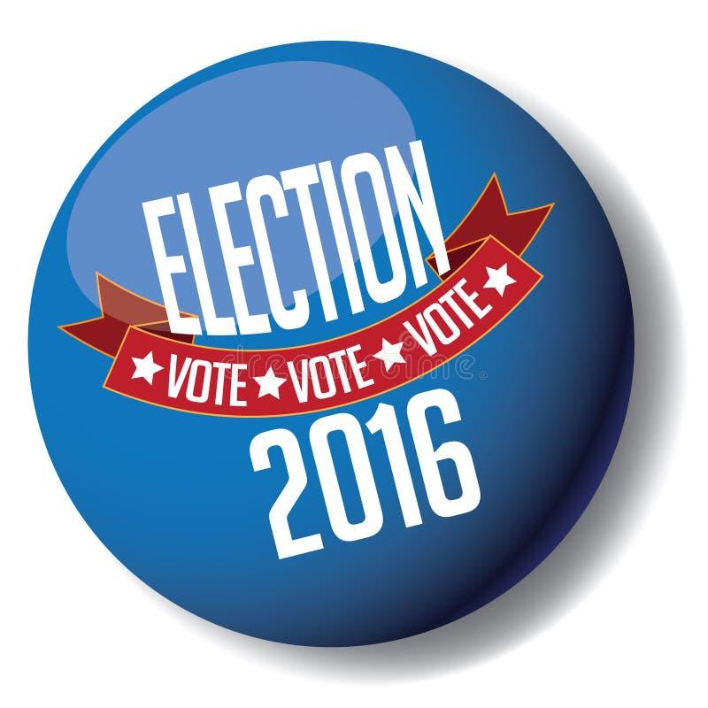 Knapp för val 2016 royaltyfri illustrationer