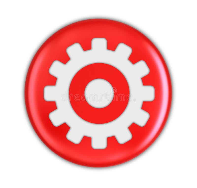 Knapp med kugghjulet vektor illustrationer