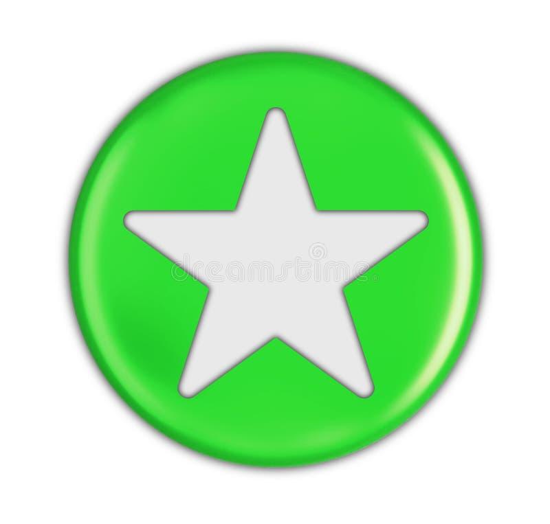 Knapp med stjärnan vektor illustrationer