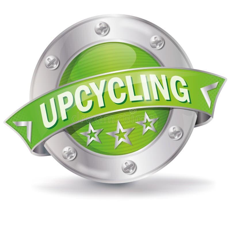 Knapp med upcycling stock illustrationer