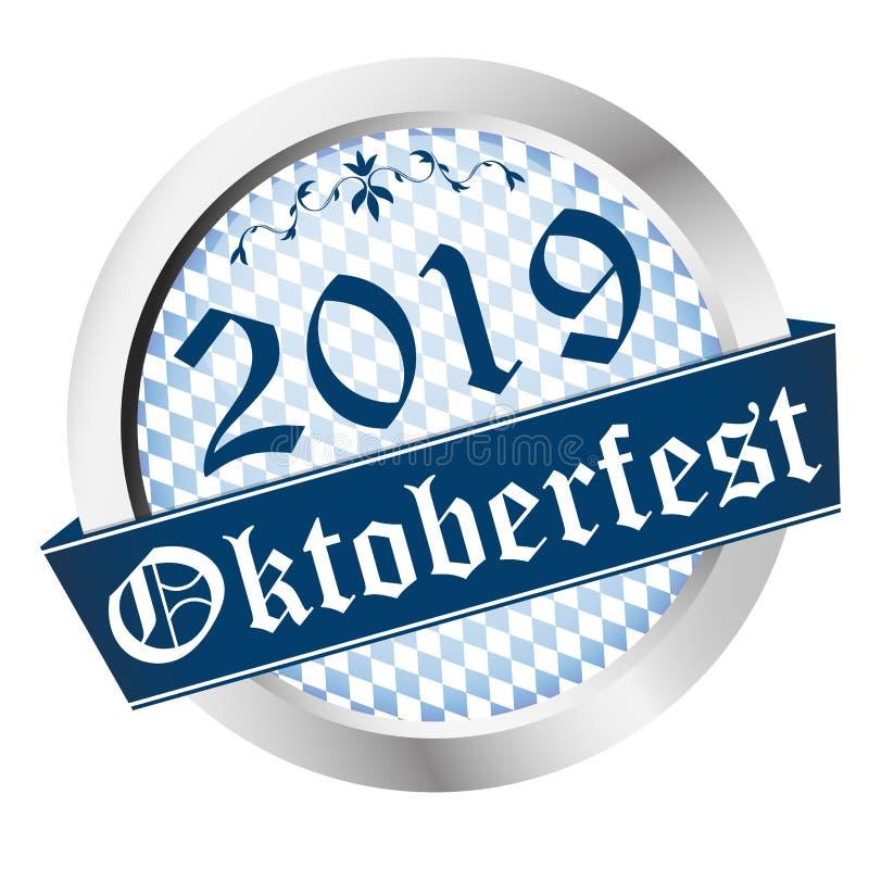 Knapp Oktoberfest 2019 vektor illustrationer