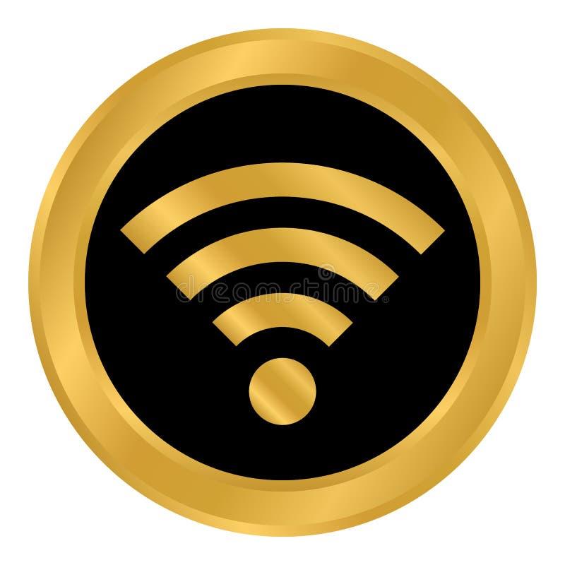 Knapp Wi-Fi på vit vektor illustrationer