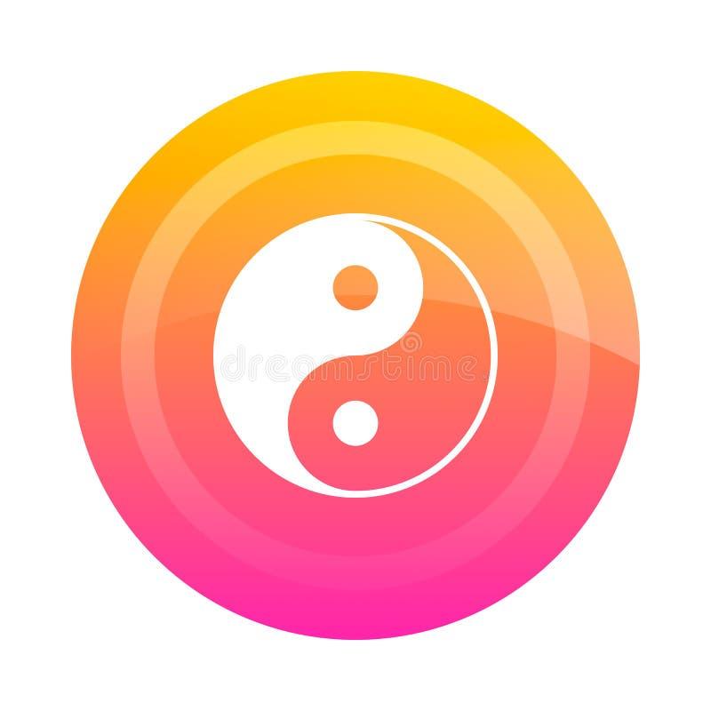 Knapp Yin Yang, vektorbild vektor illustrationer