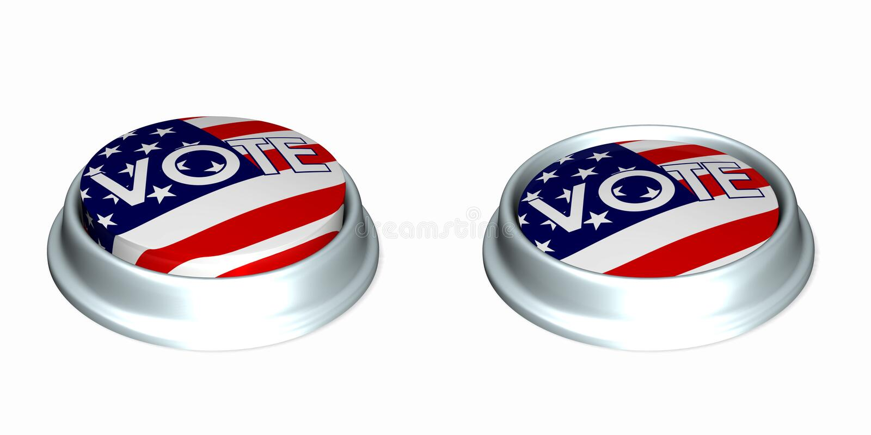knappar 1 röstar stock illustrationer
