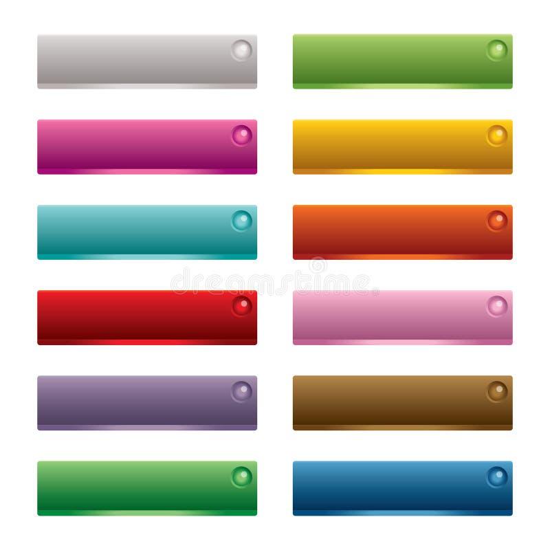 knappar som fäster rengöringsduk för illustrationbanavektor ihop vektor illustrationer