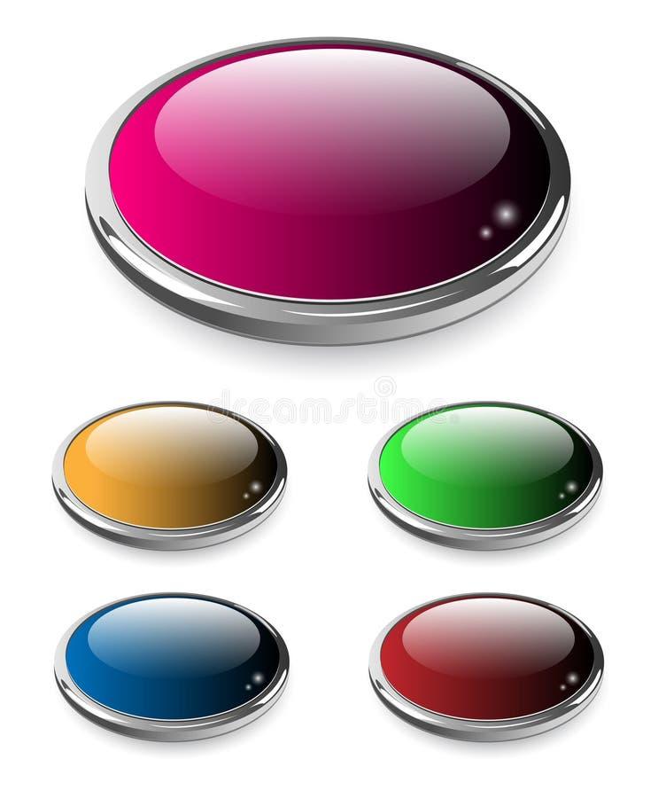 knappar ställde in rengöringsduk stock illustrationer