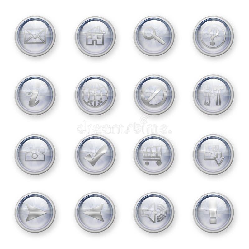 knappar ställde in rengöringsduk royaltyfri illustrationer