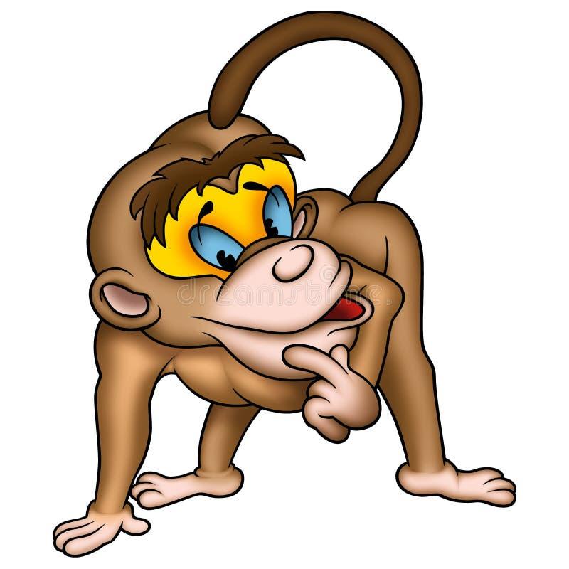 Knappe aap vector illustratie