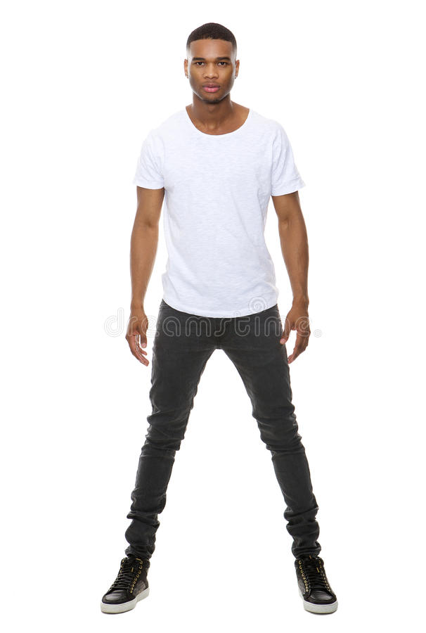 Knappe Afrikaanse Amerikaanse mannelijke mannequin royalty-vrije stock foto's