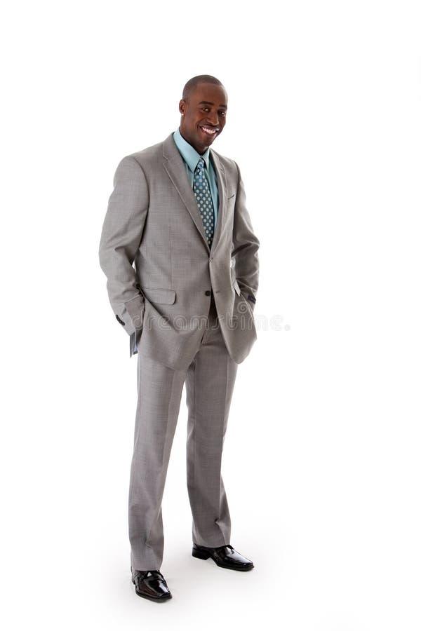 Knappe Afrikaanse bedrijfsmens stock afbeeldingen