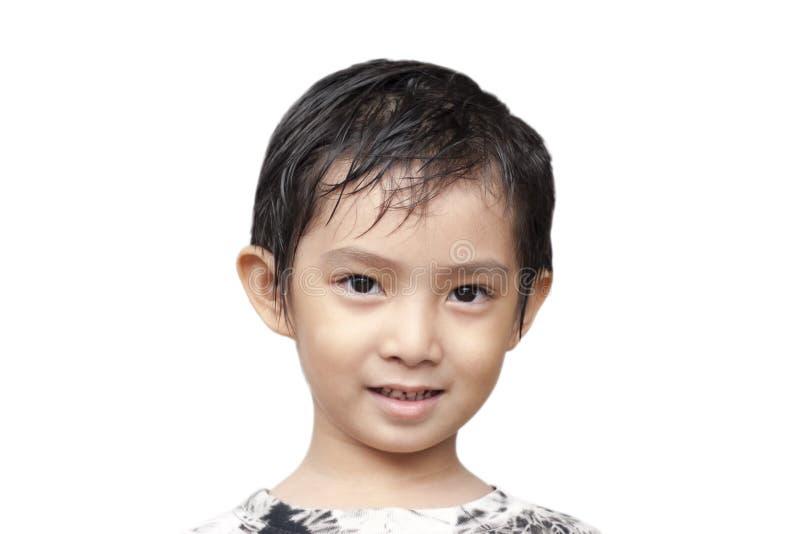 Knappe Aziatische Jongen. stock afbeelding