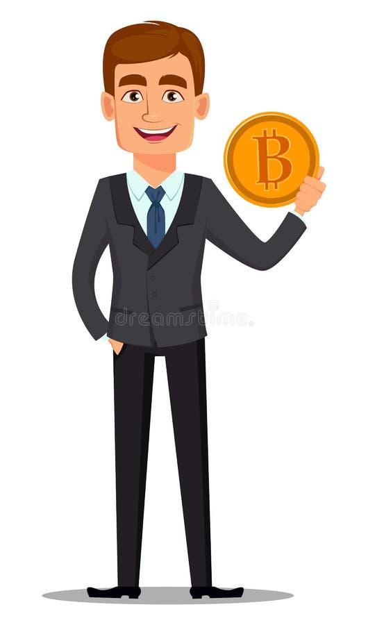 Knappe bankier in pak stock illustratie