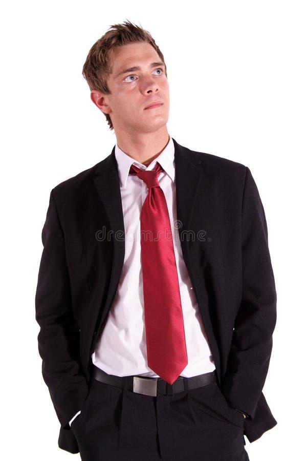 Knappe bedrijfsmens stock fotografie
