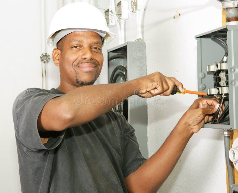 Knappe Elektricien royalty-vrije stock foto
