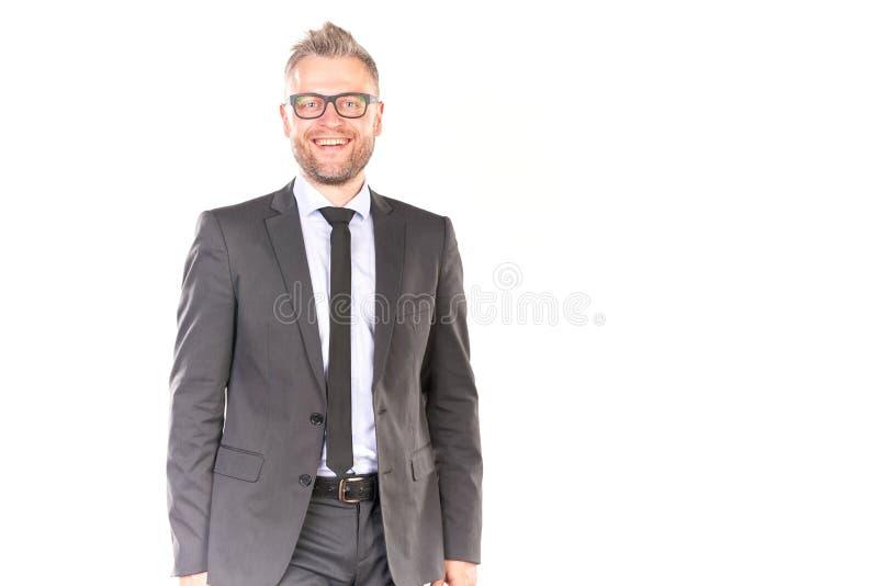 Knappe en zekere zakenman stock fotografie