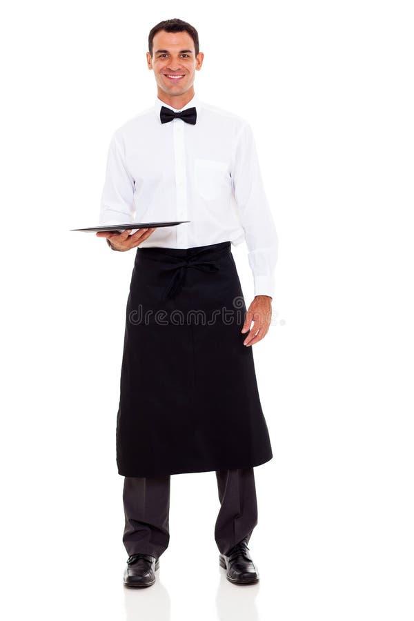Knappe kelner royalty-vrije stock foto's
