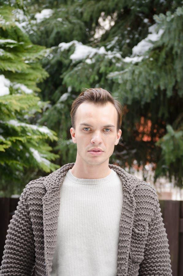 Download Knappe Jonge Mens In Openlucht Stock Foto - Afbeelding bestaande uit winter, fotogeniek: 29500716