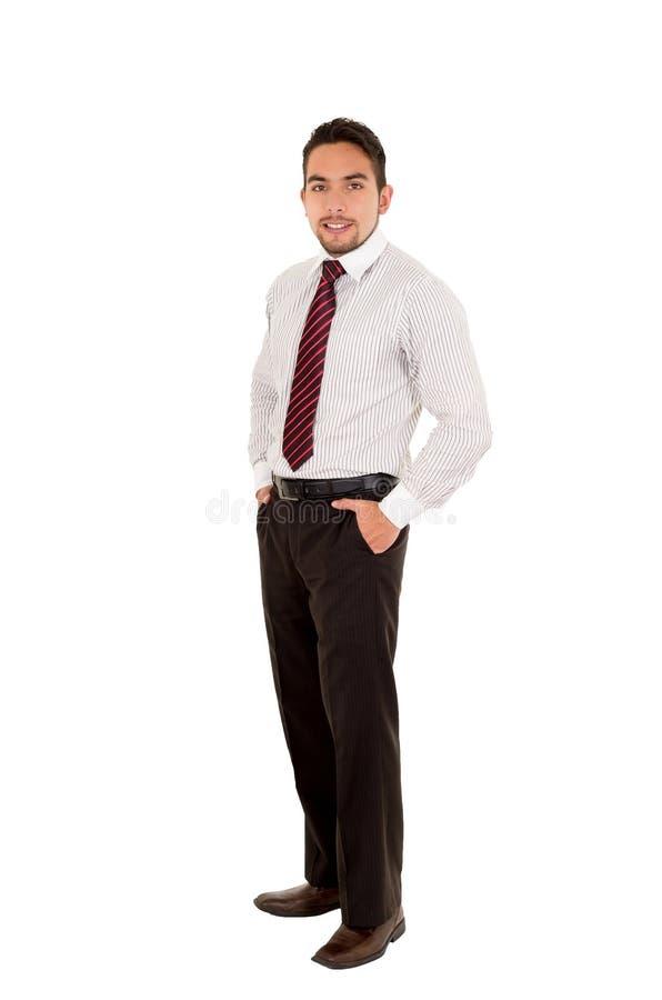Knappe Latijnse mens die een rode band dragen royalty-vrije stock foto's