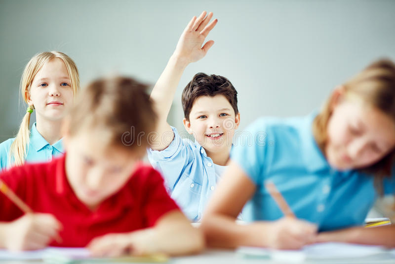 Knappe leerling stock afbeelding