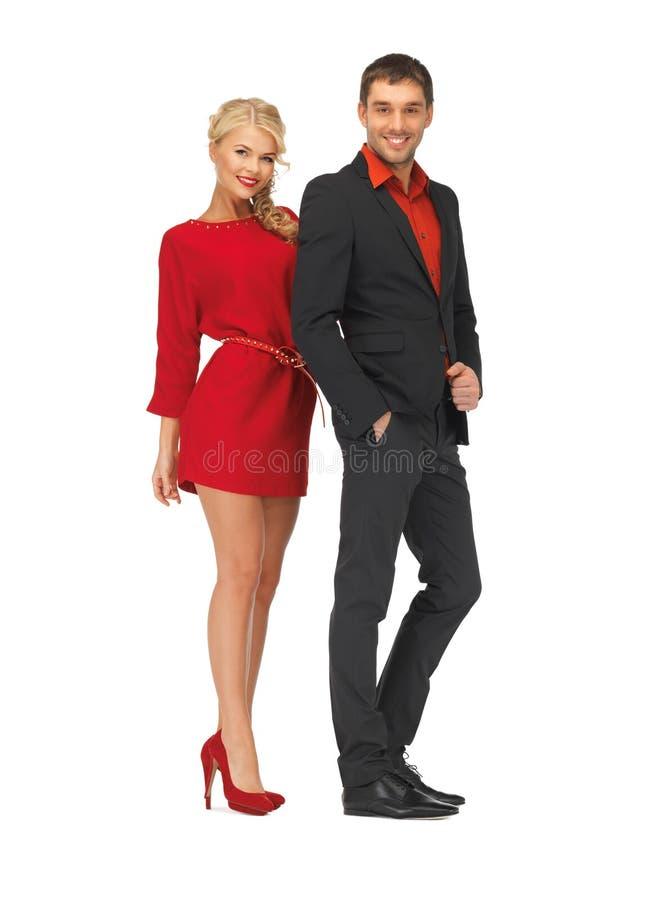 Knappe man en mooie vrouw stock afbeelding