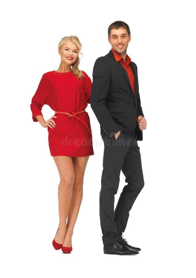 Knappe man en mooie vrouw stock fotografie