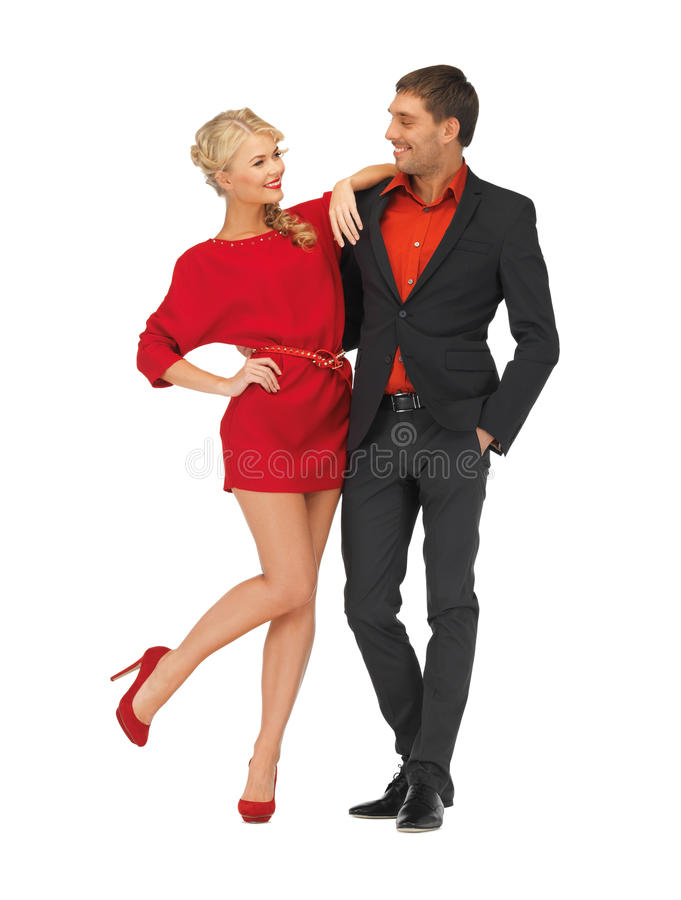 Knappe man en mooie vrouw stock foto