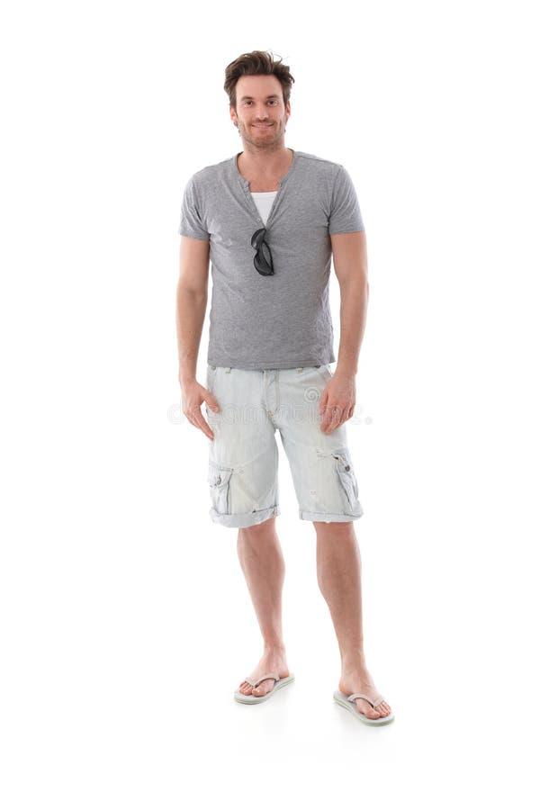 Knappe mens bij zomer stock afbeeldingen