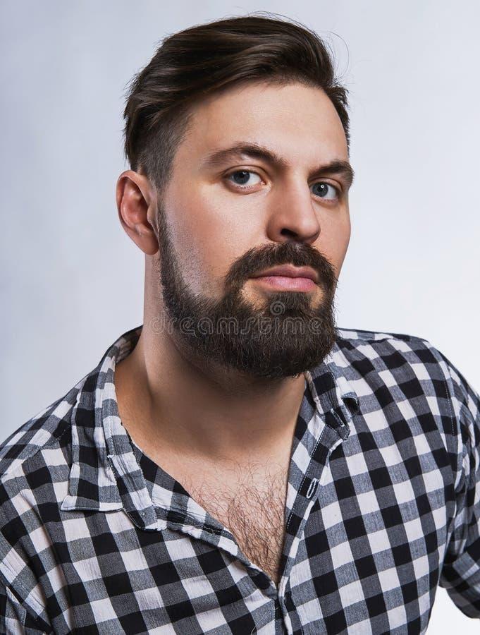 Knappe mens met baard royalty-vrije stock fotografie
