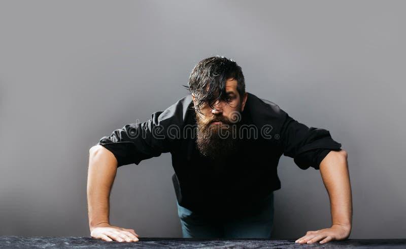 Knappe mens met de baard stock afbeelding