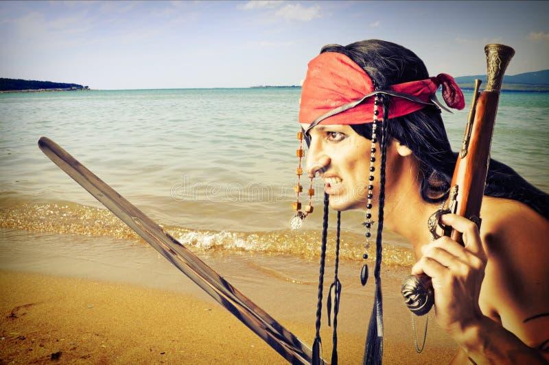 Knappe piraat stock afbeelding