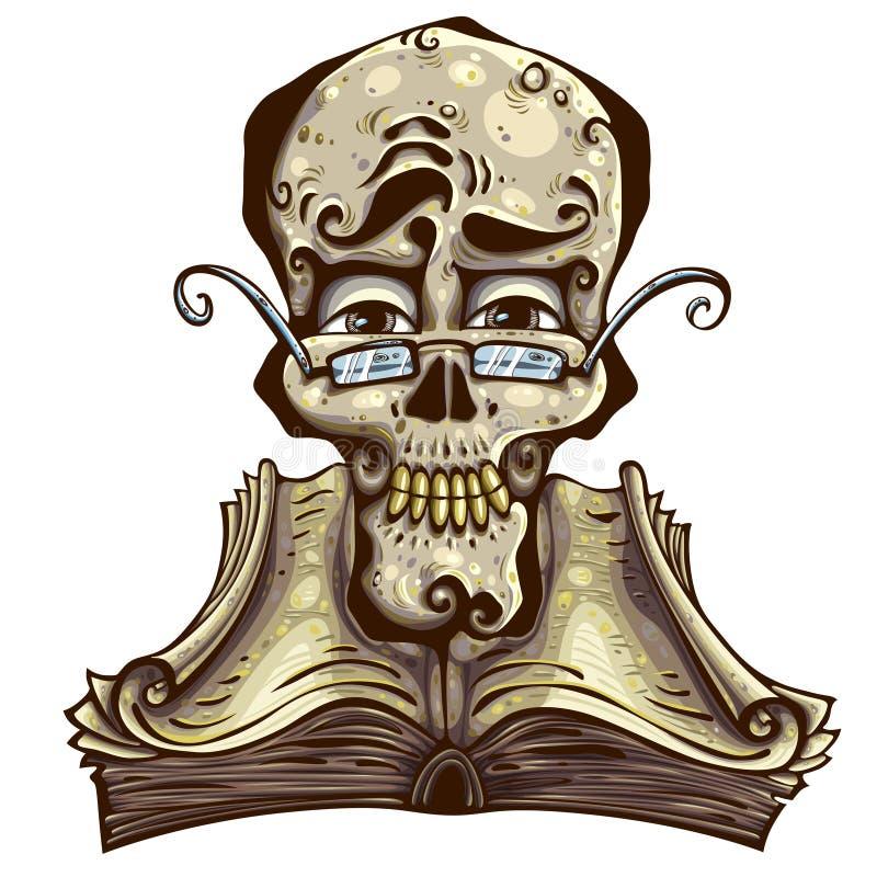 Knappe schedel. vector illustratie