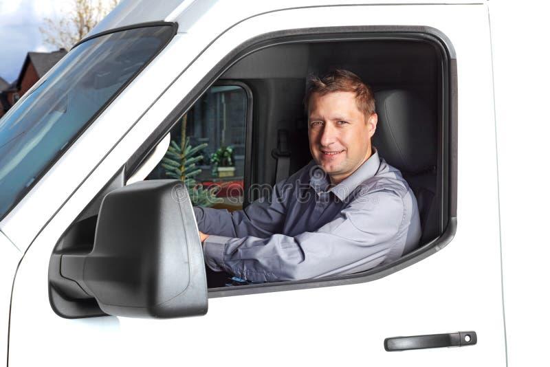Knappe vrachtwagenchauffeur. stock afbeeldingen