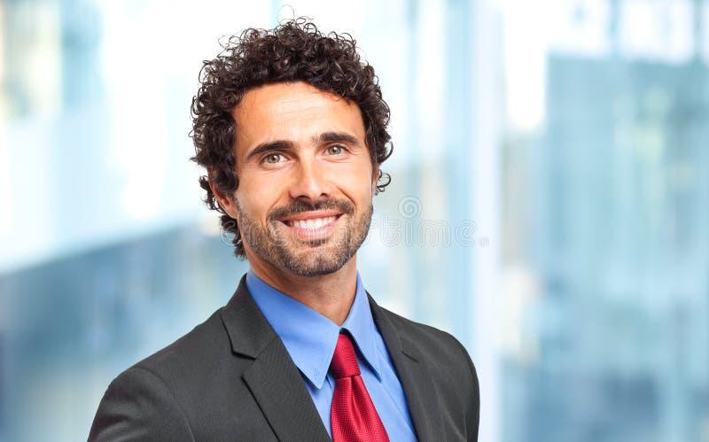 Knappe zakenman royalty-vrije stock foto