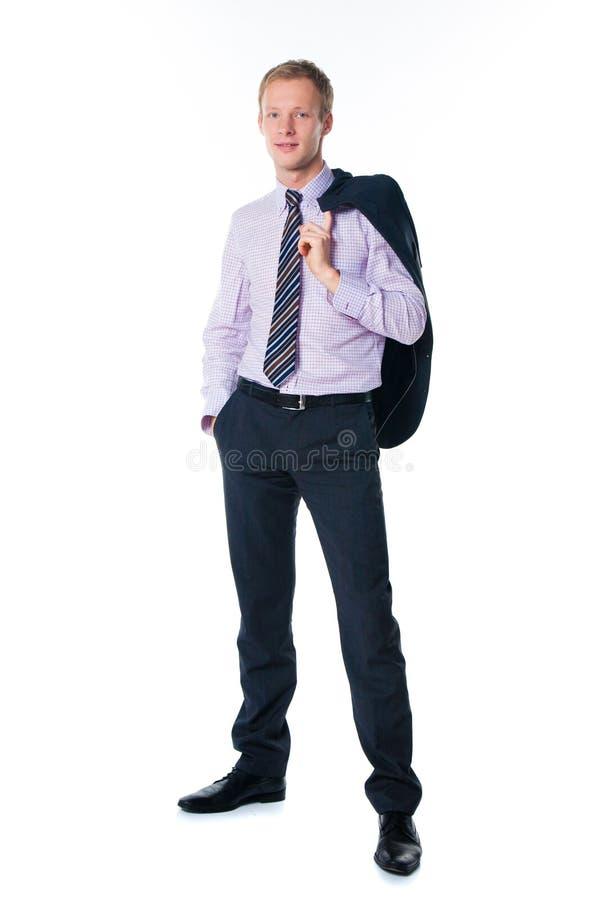 Knappe zakenman in kostuum royalty-vrije stock fotografie