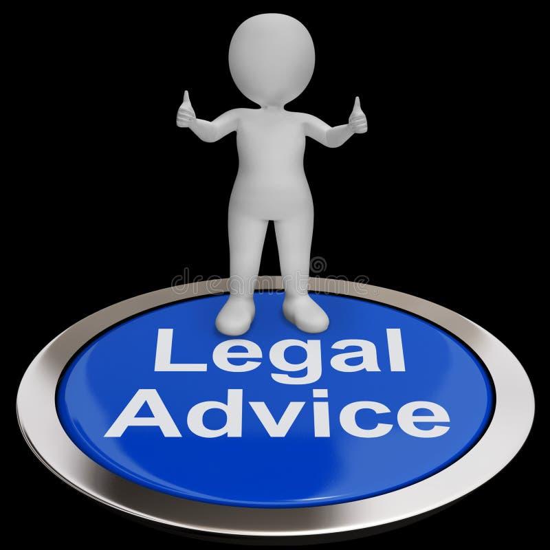 Knappen för laglig rådgivning visar advokaten Expert Guidance vektor illustrationer