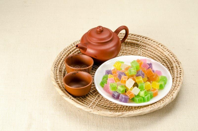 Knapperig gelei Thais dessert royalty-vrije stock afbeelding