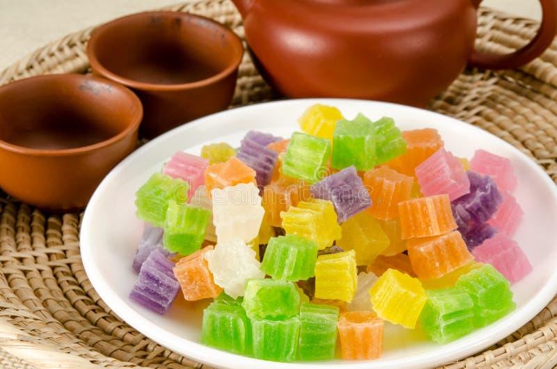 Knapperig gelei Thais dessert royalty-vrije stock foto's