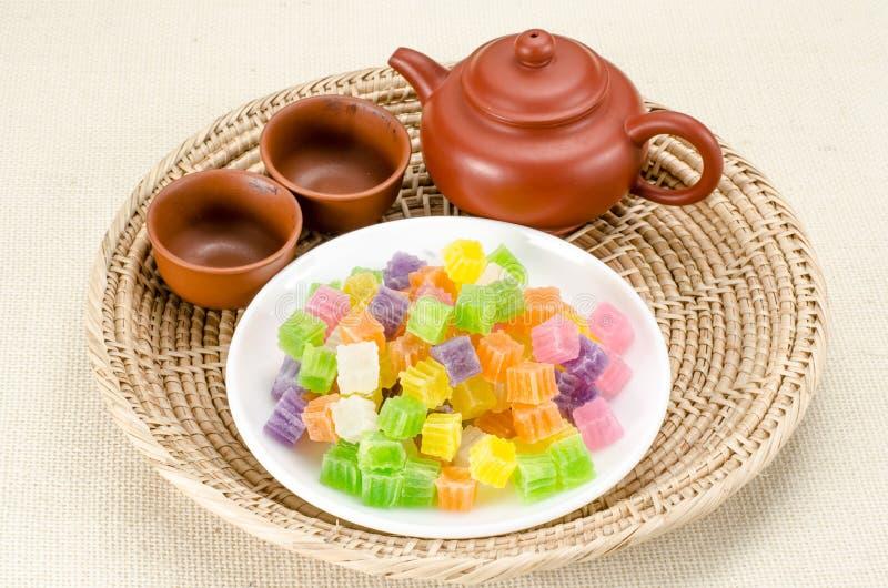 Knapperig gelei Thais dessert royalty-vrije stock foto