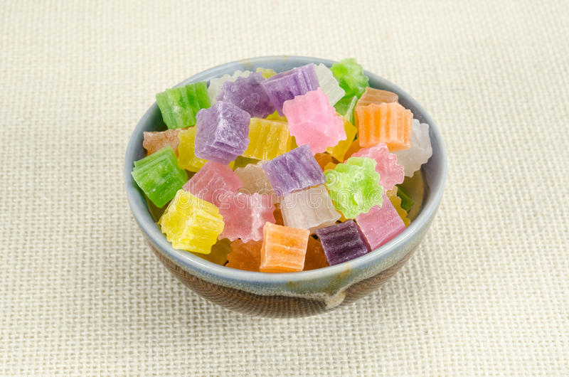 Knapperig gelei Thais dessert stock fotografie
